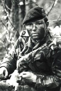 Survival training Royal Marines, Bristol Channel, 1984