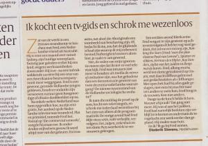 Eten met Fred – Volkskrant august 2014