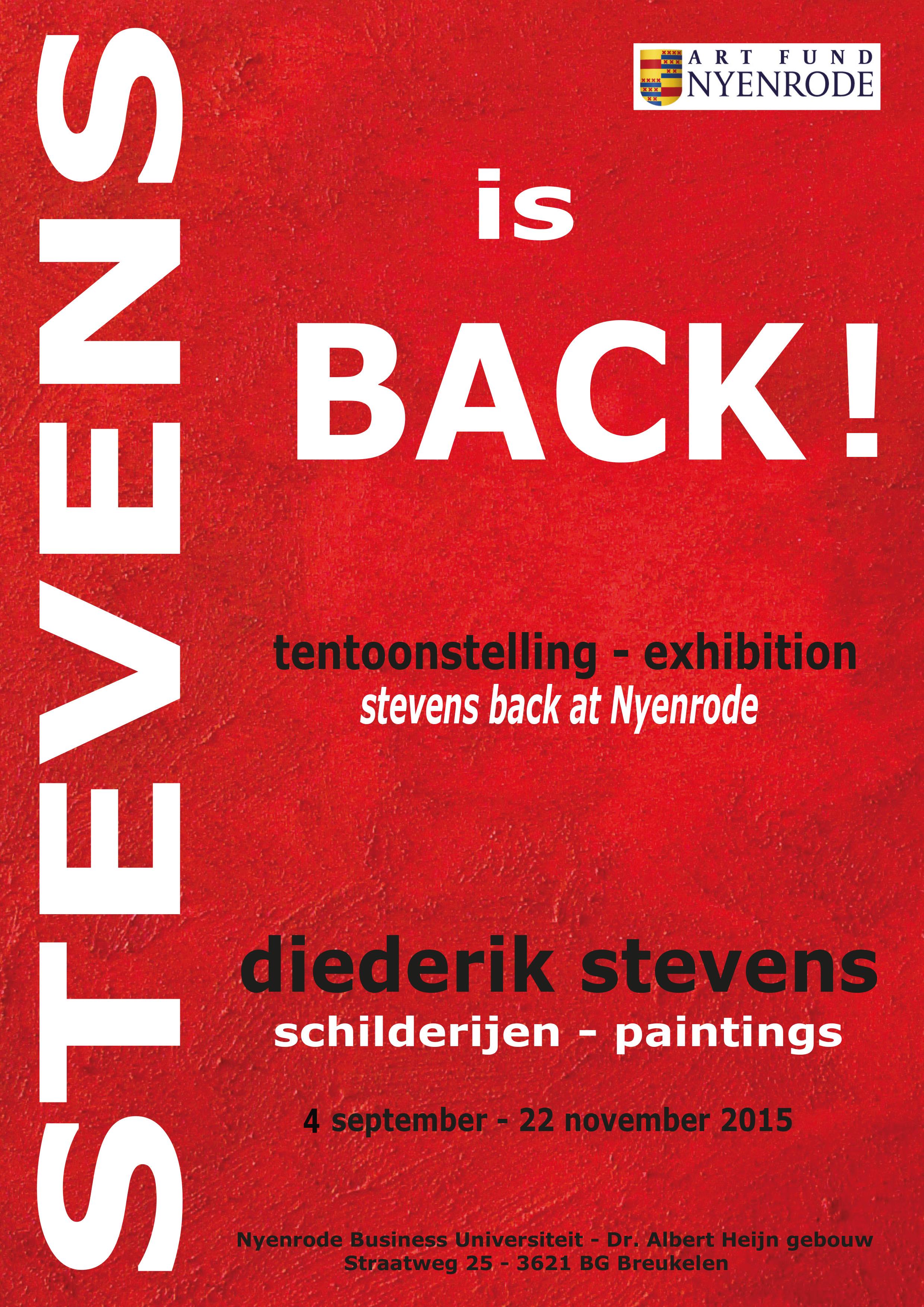 Stevens is back NIEUW NIEUW