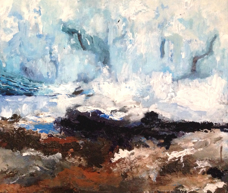 Hubbard Glacier Feet, 60 x 70 cm, acryl-olie op doek, 2015