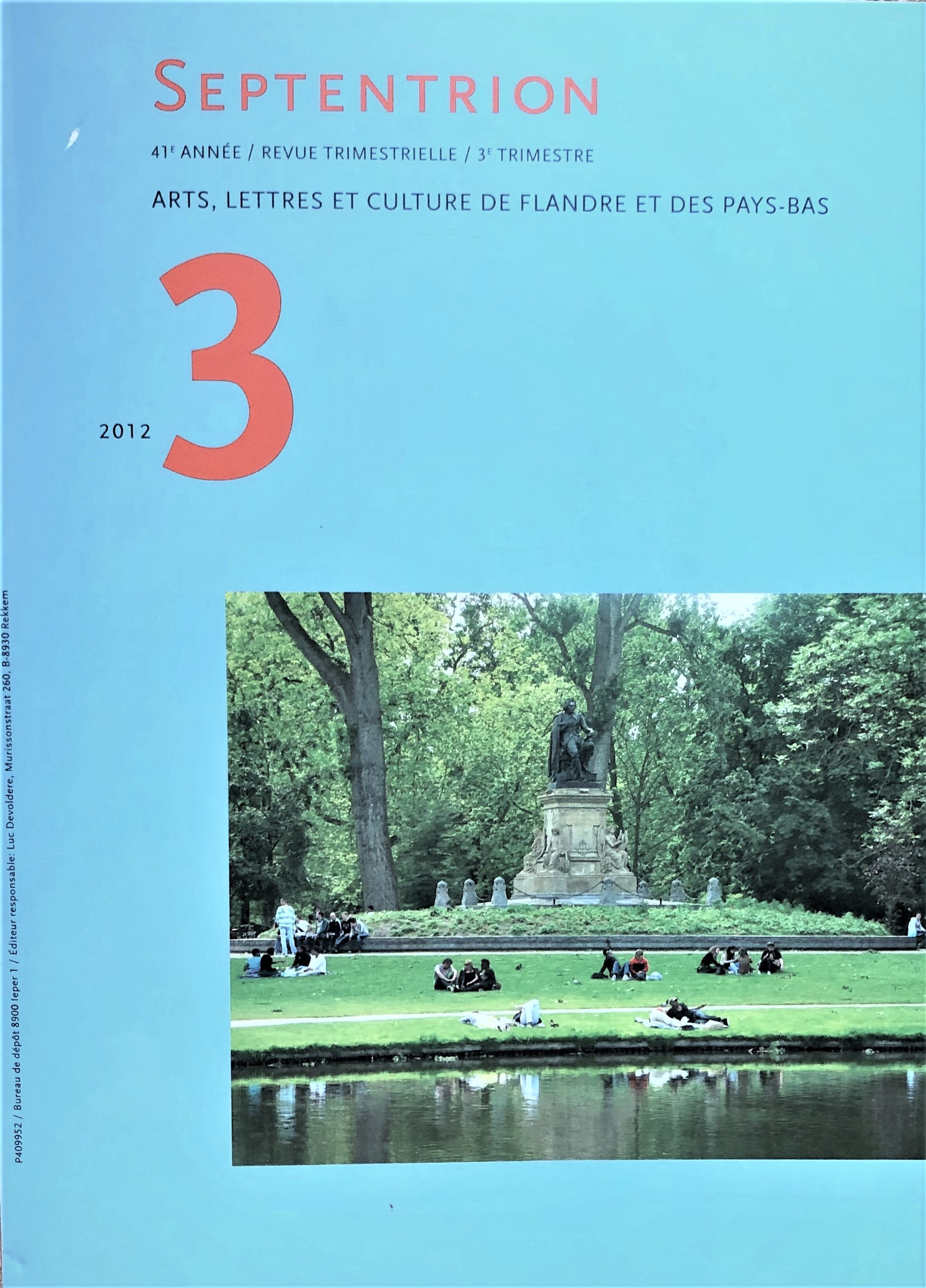 only recently found review (Septentrion, 2012) on book 'Hoogtij langs de Seine'