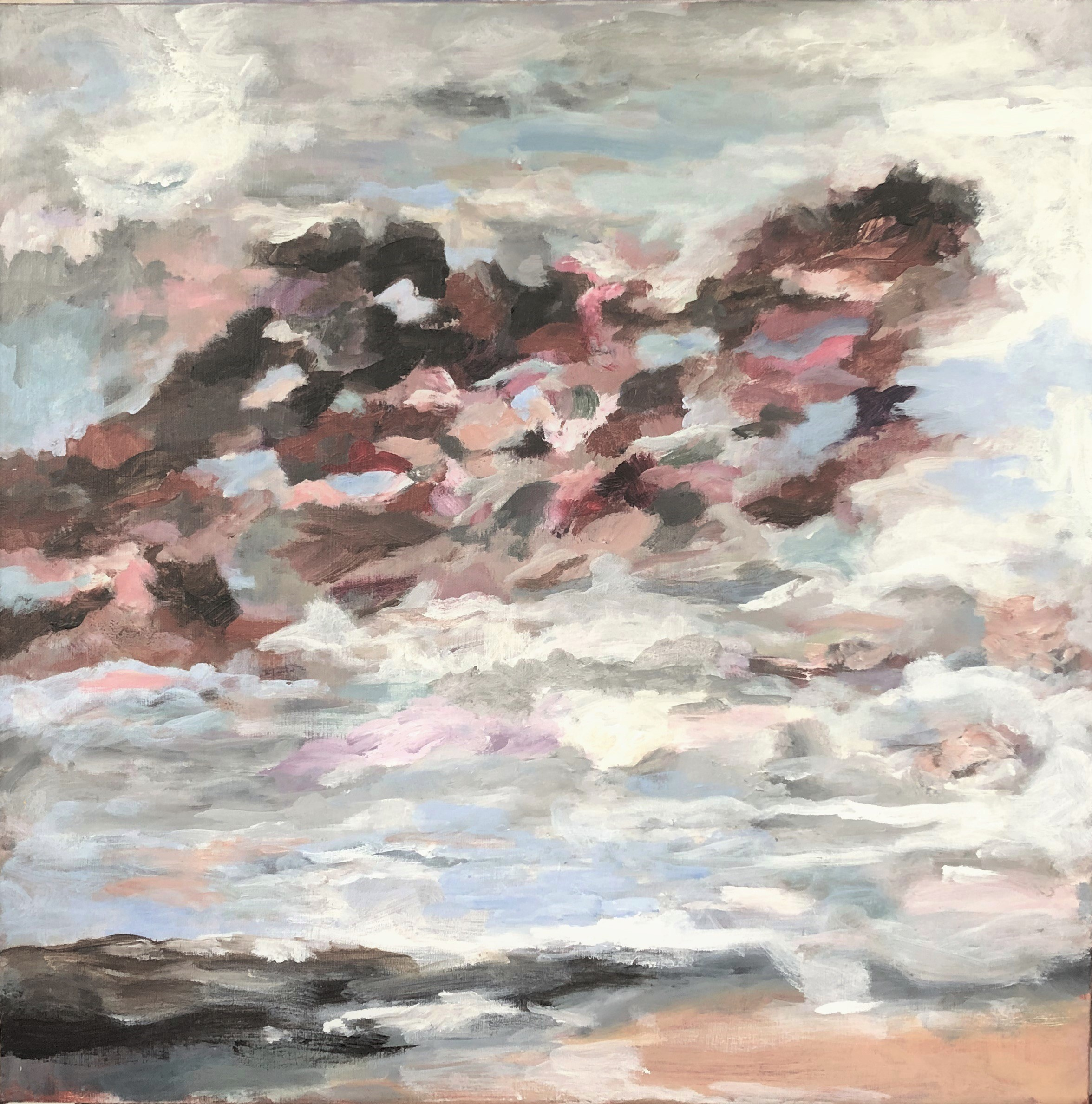 passing clouds, 60 x 60, 2019